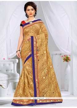 Dainty Net Embroidered Work Classic Designer Saree