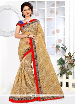 Genius Net Embroidered Work Classic Saree