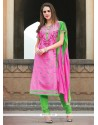 Sorcerous Embroidered Work Churidar Suit