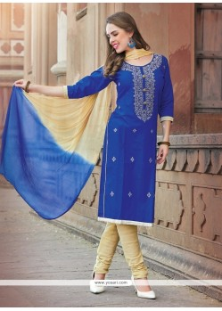 Vivacious Embroidered Work Cotton Churidar Suit