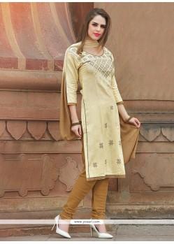 Deserving Embroidered Work Churidar Suit