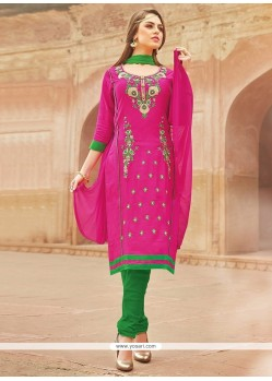 Whimsical Cotton Churidar Suit