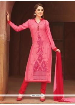 Gorgonize Pink Churidar Suit