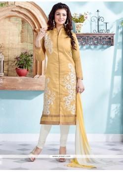 Ayesha Takia Chanderi Embroidered Work Churidar Suit
