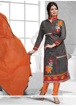 Ayesha Takia Embroidered Work Churidar Suit
