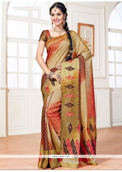 Fine Gold Weaving Work Art Silk Designer Traditional Saree