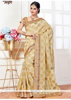 Resplendent Stone Work Art Silk Traditional Designer Saree