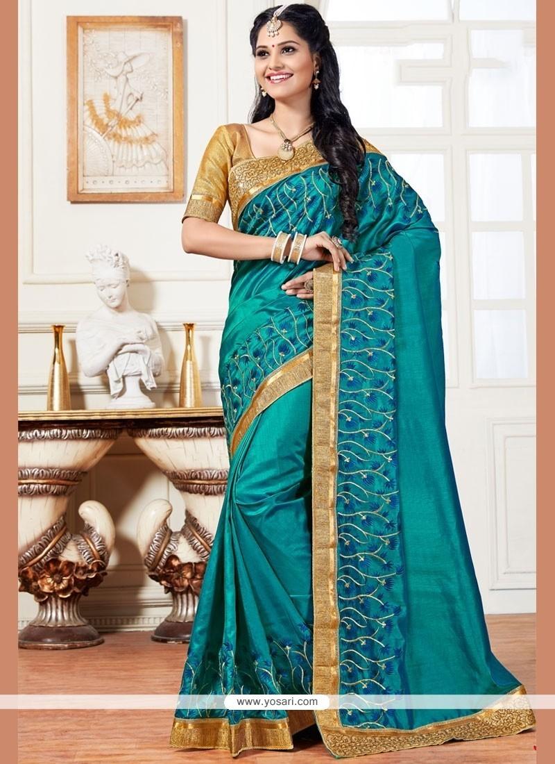 Brilliant Resham Work Art Silk Traditional Saree