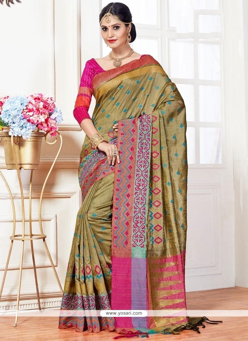 Staggering Green Traditional Designer Saree