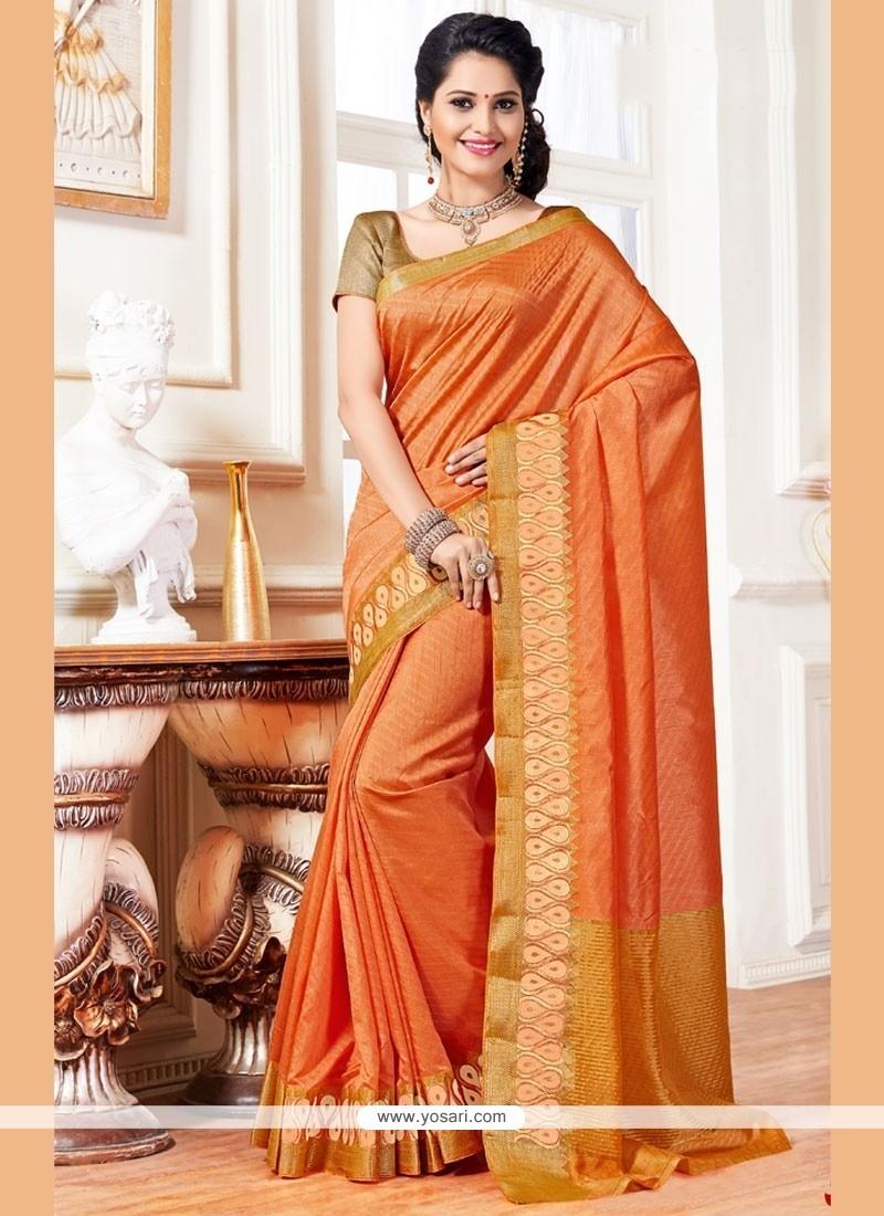 Exceeding Art Silk Weaving Work Traditional Designer Saree