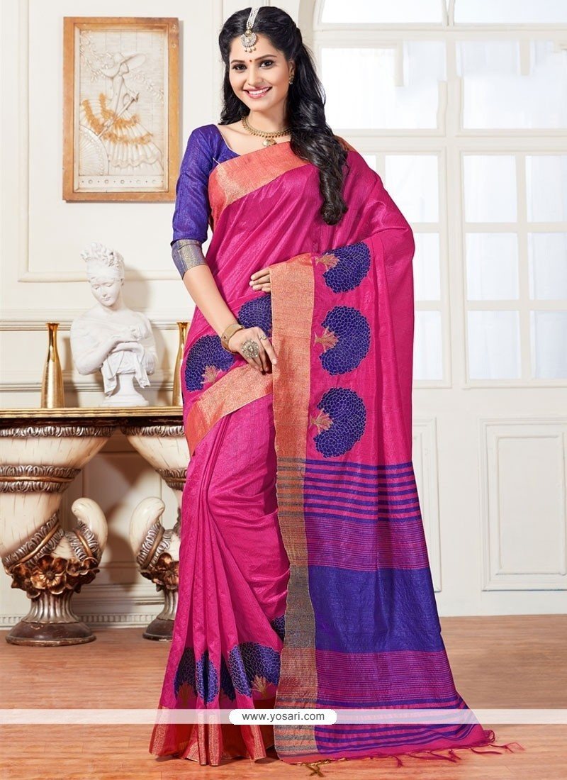 Mesmerizing Art Silk Weaving Work Traditional Saree
