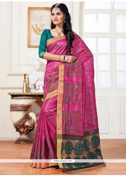Charming Lace Work Art Silk Traditional Saree