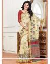 Enthralling Weaving Work Traditional Designer Saree