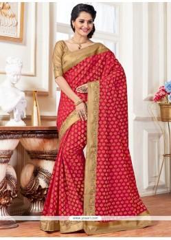 Enticing Art Silk Weaving Work Traditional Saree