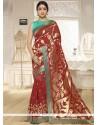 Distinctively Banarasi Silk Maroon Traditional Saree