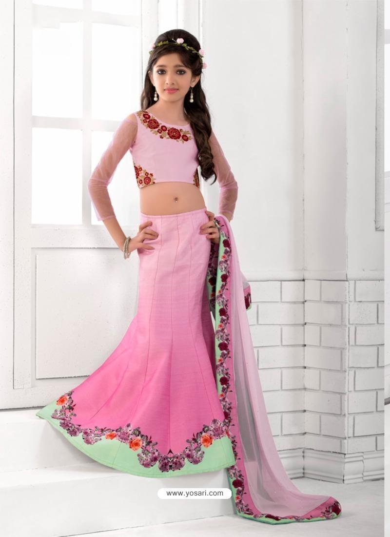 Appealing Pink Readymade Lehenga Choli