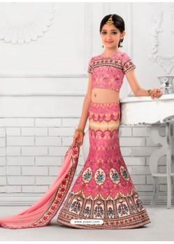 Blooming Pink Readymade Lehenga Choli