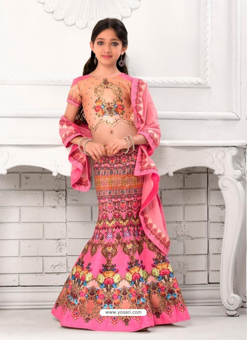 Demure Pink Silk Lehenga Choli