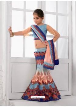 Stunning Blue Lehenga Choli