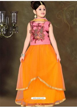 Trendy Pink Readymade Lehenga Choli