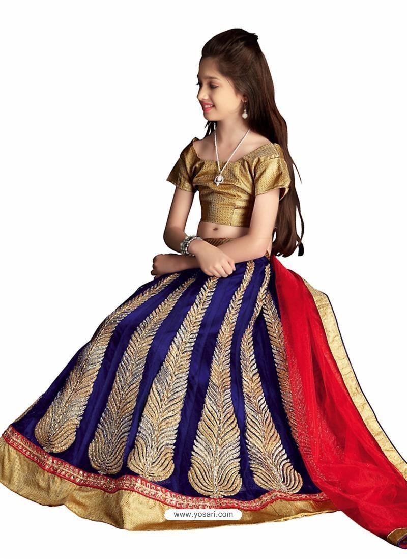 Royal Blue Net Lehenga Choli