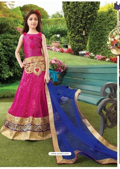 Astonishing Pink Readymade Lehenga Choli