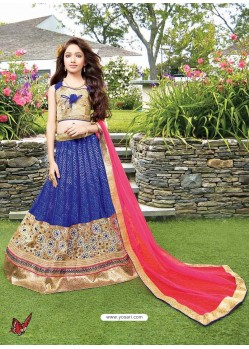 Sizzling Royal Blue Circular Lehenga Choli