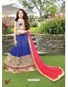 Sizzling Royal Blue Circular Lehenga Choli