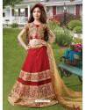 Awesome Red Resham Lehenga Choli