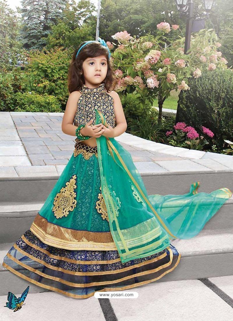 Blooming Emerald Net Lehengha Choli
