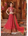 Sizzling Crimson Net Lehengha Choli