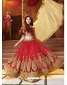 Stylish Red Lehenga Choli