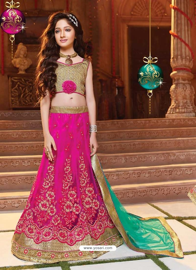 Baby Pink Readymade Lehenga Choli