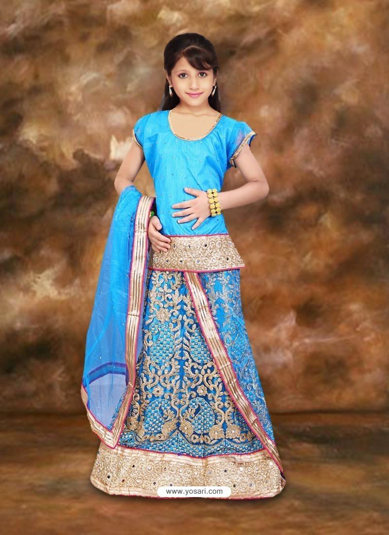 Charming Blue Readymade Lehenga Choli