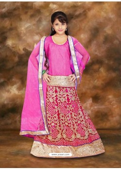 Classy Pink Net Lehenga Choli