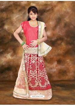 Sizzling Red Net Lehenga Choli