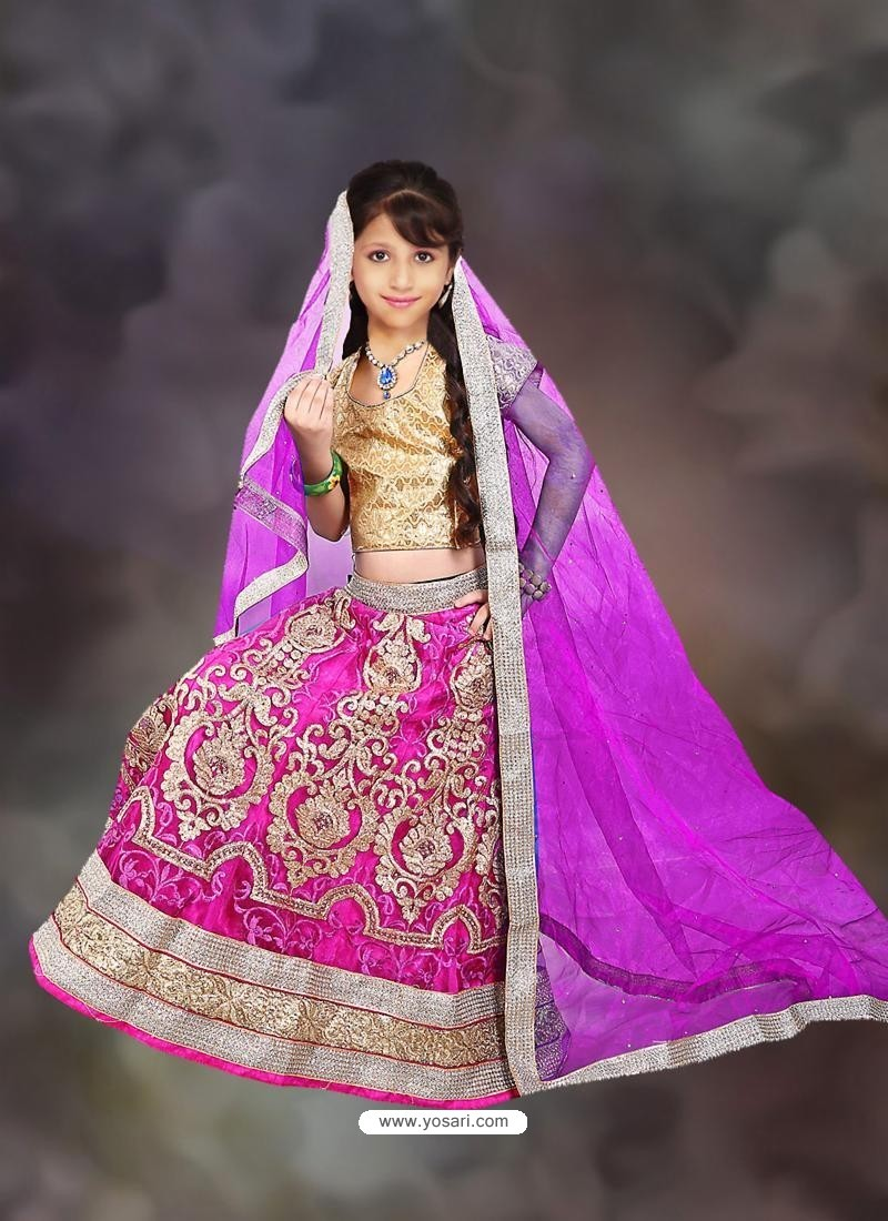 Artistic Pink Lehenga Choli