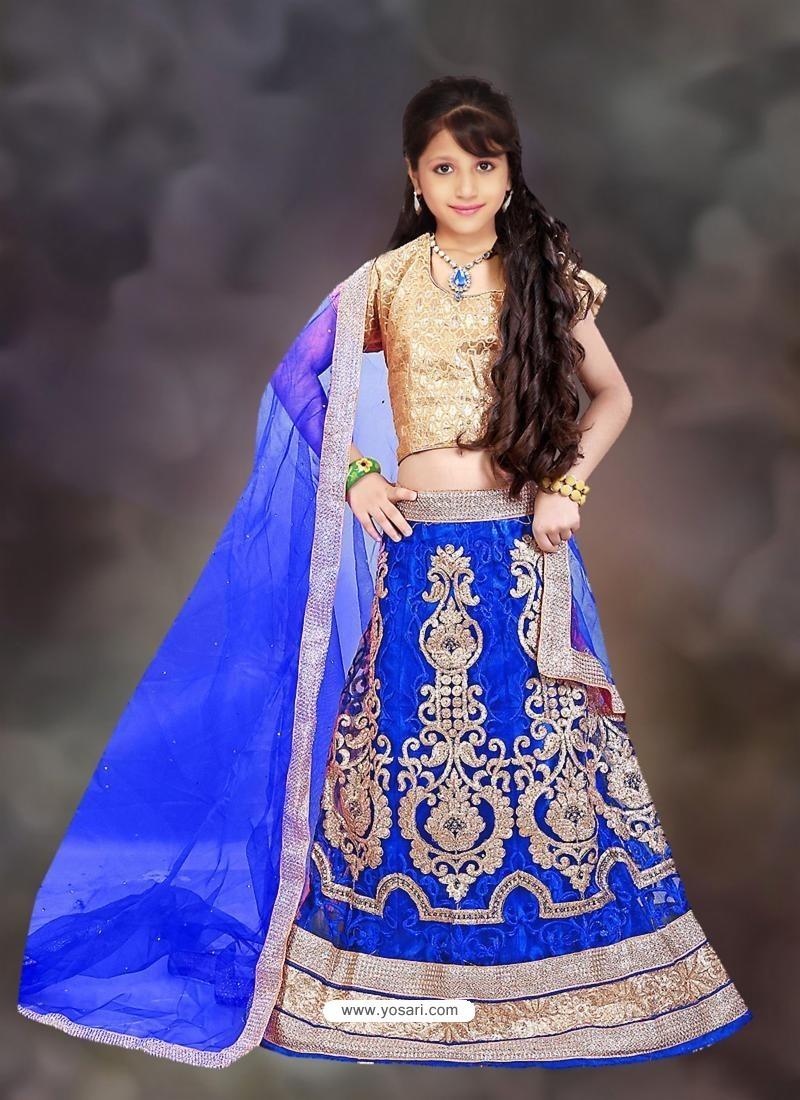 Blooming Blue Readymade Lehenga Choli
