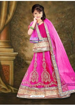 Beautiful Pink A Line Lehenga Choli