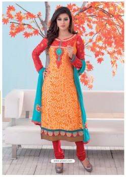 Orange Brasso Churidar Suit