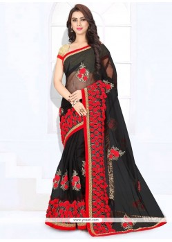 Prodigious Net Zari Work Classic Saree