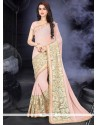 Graceful Embroidered Work Net Classic Saree