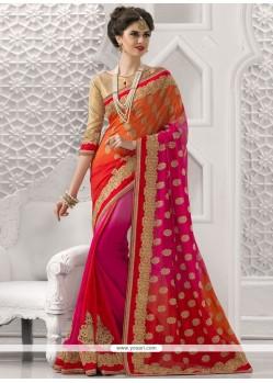 Alluring Resham Work Classic Saree