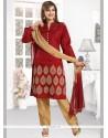 Thrilling Art Silk Readymade Churidar Salwar Kameez