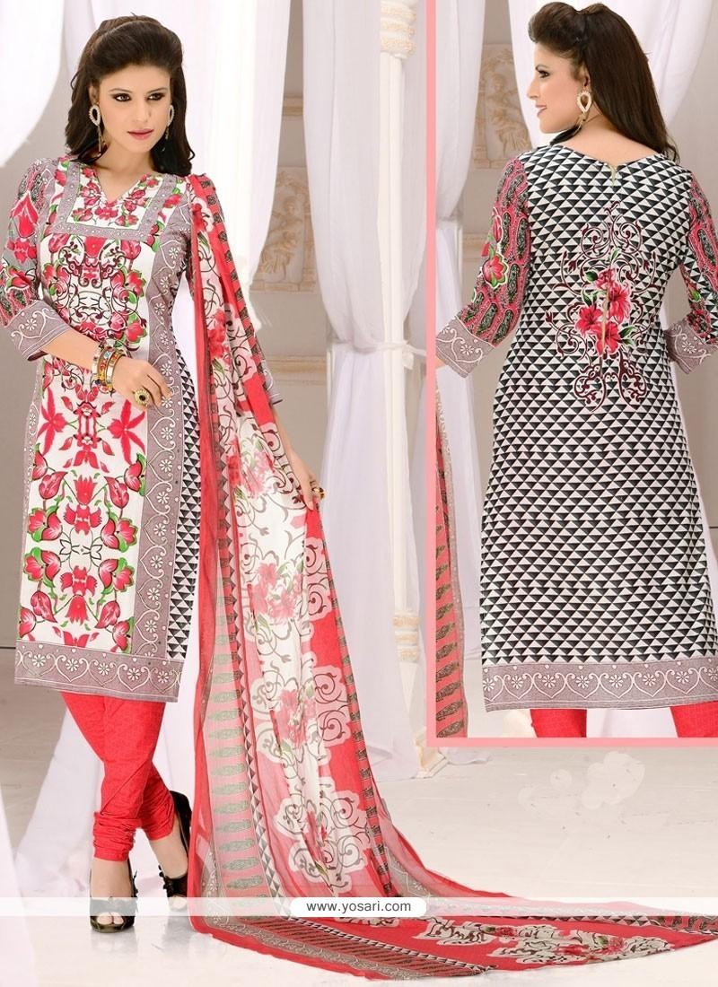 Ethnic Cotton Churidar Suit