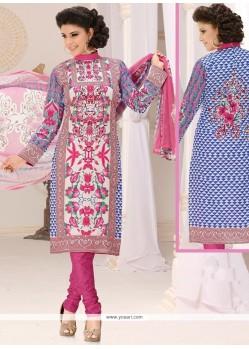 Gleaming Cotton Multi Colour Churidar Suit