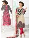 Invaluable Digital Print Work Multi Colour Churidar Suit