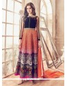 Amazing Bhagalpuri Silk Print Work Anarkali Salwar Kameez