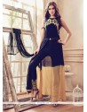 Affectionate Embroidered Work Faux Georgette Pant Style Suit