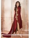 Sonorous Banarasi Silk Embroidered Work Designer Suit